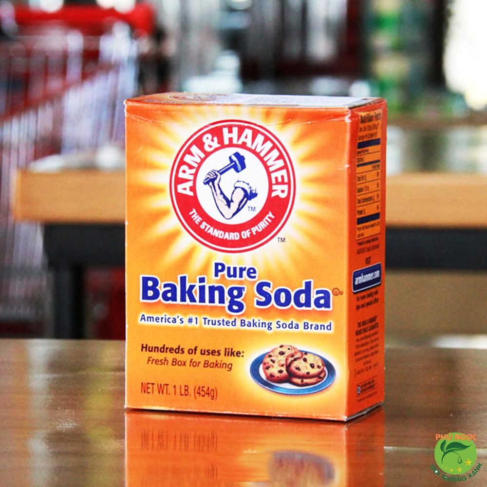Dùng hỗn hợp baking soda, giấm...