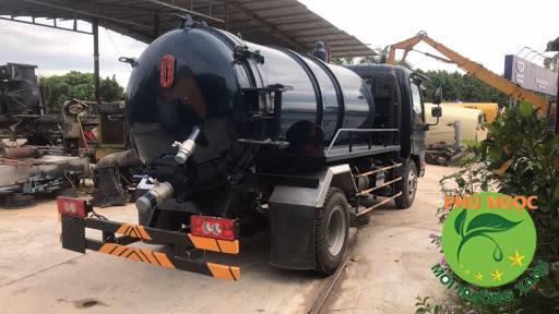 xe hút chuyên dụng hầm biogas