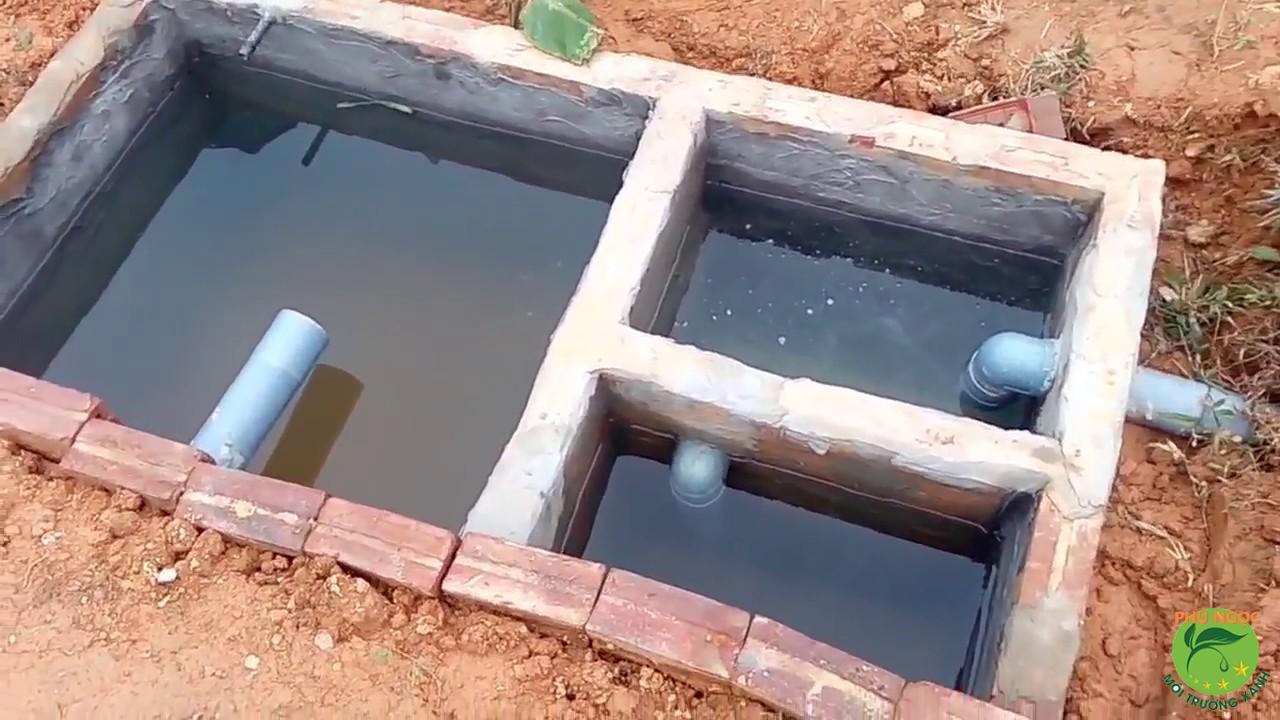 Cách đặt ống thoát nước bể hầm cầu