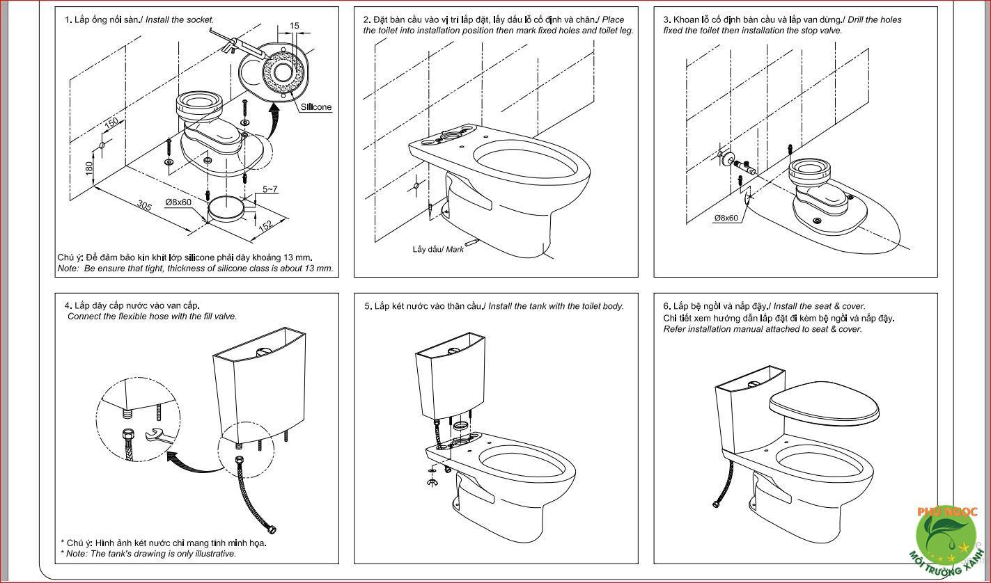 Hướng dẫn tự lắp đặt bồn cầu tại nhà đơn giản