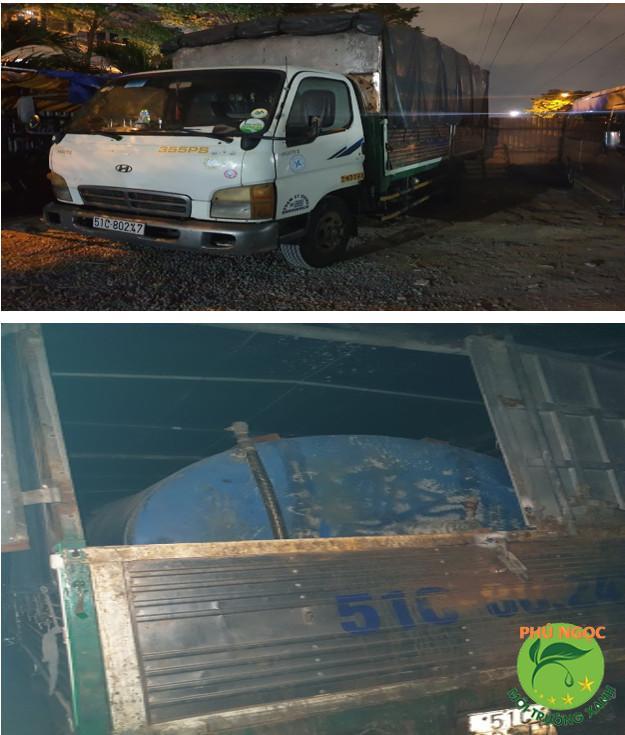 xe hút hầm cầu hyundai Hd 72 Bồn 10 khối
