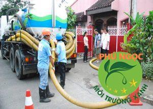 Hút hầm cầu huyện Bình Đại