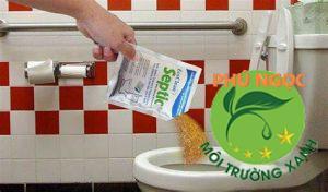 Sử dụng bột thông cống tại nhà
