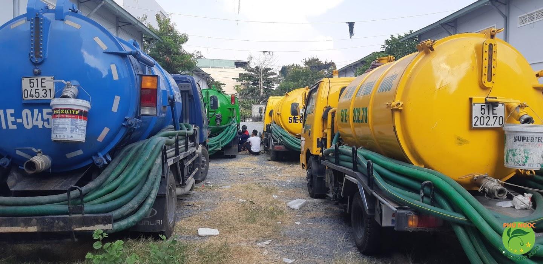 Quy trình làm việc dịch vụ hút hầm cầu thành phố Sa Đéc