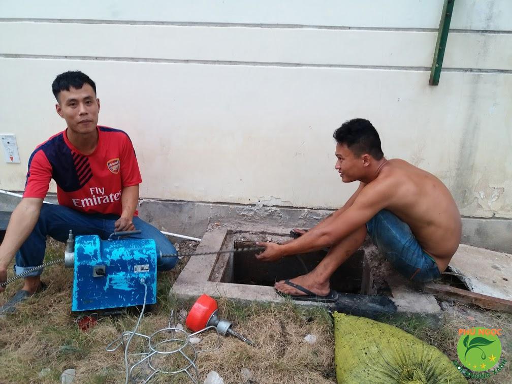 Quy trình làm việc dịch vụ thông cống nghẹt huyện Long Hồ
