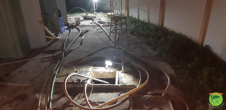 Quy trình làm việc dịch vụ hút hầm cầu huyện Châu Thành