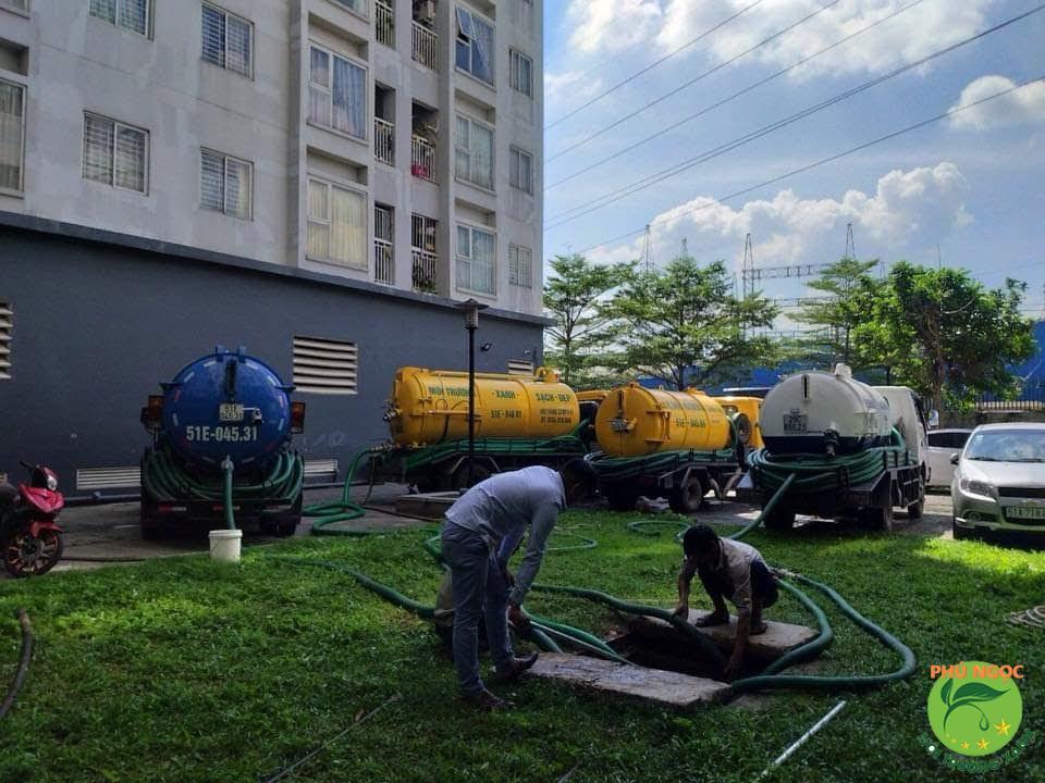 Quy trình làm việc dịch vụ hút hầm cầu huyện Tân Châu