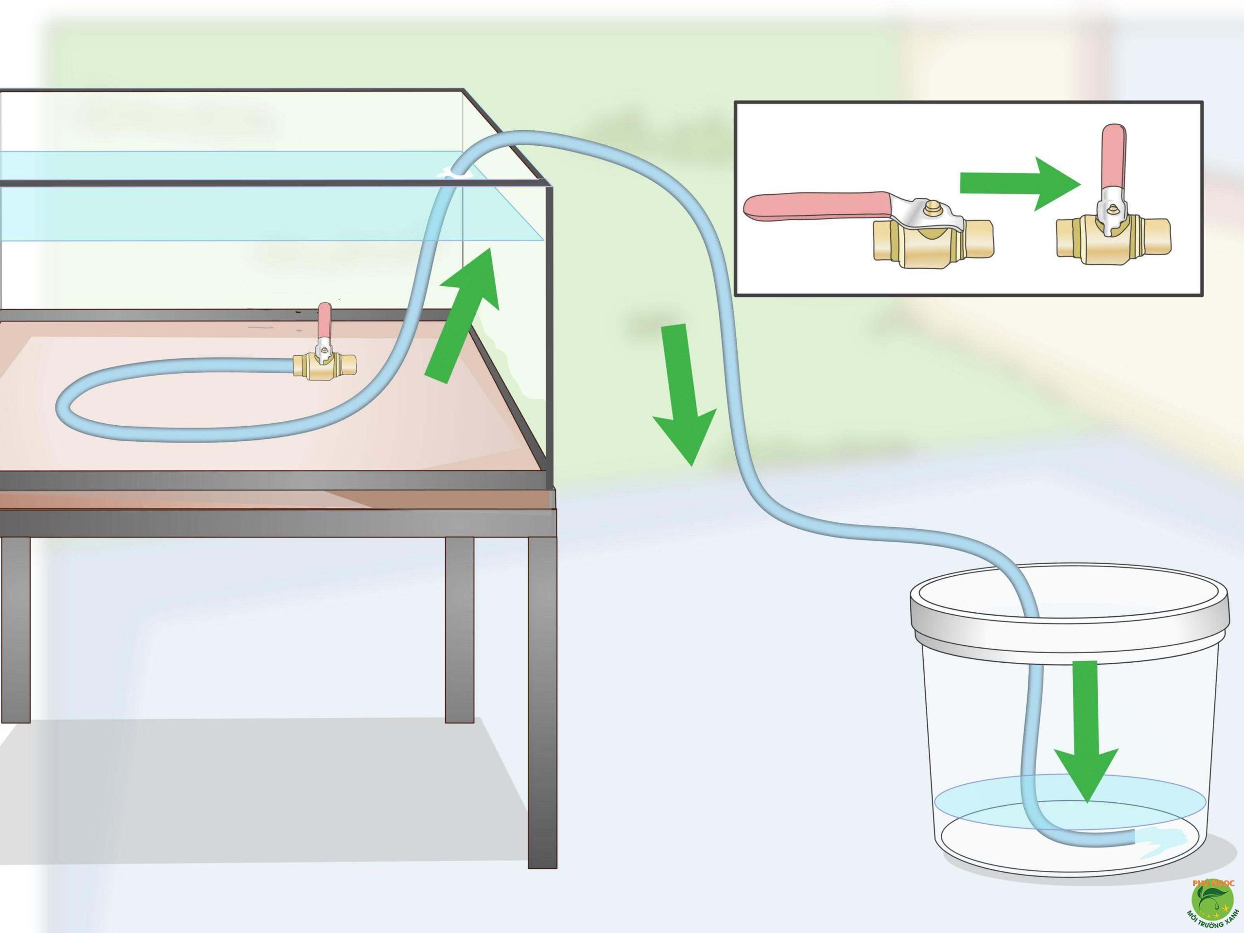 Siphon giúp nước chảy từ nơi có địa hình cao xuống nơi có địa hình thấp hơn
