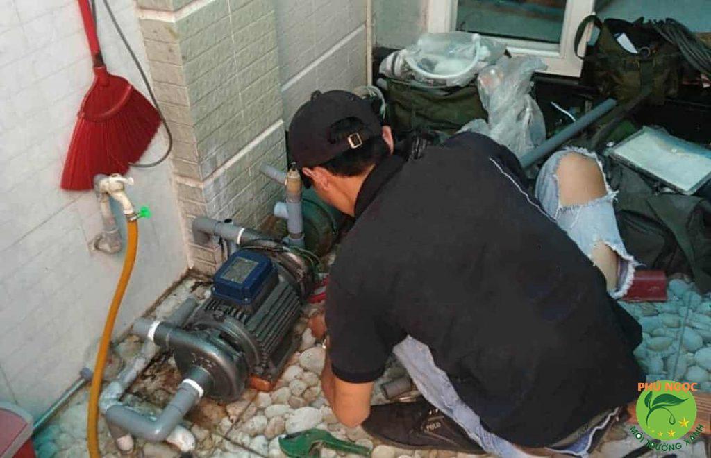 Máy bơm bị cháy do nguồn điện không ổn định
